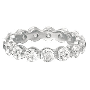 Prong-Set Diamond Eternity Band - 4mm (I, I1)