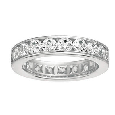 Channel-Set Diamond Eternity Band - 5mm (I, SI2)