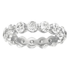 Prong-Set Diamond Eternity Band - 4mm (I, SI2)