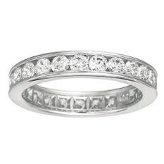 Channel-Set Diamond Eternity Band - 4mm (I, SI2)
