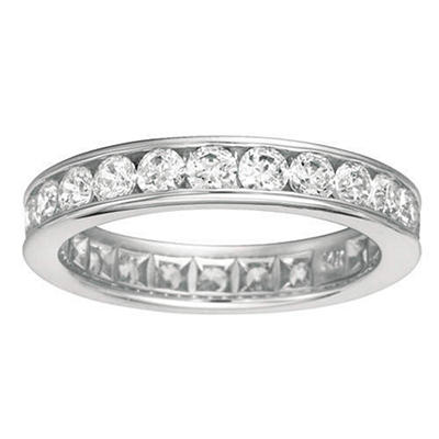Channel-Set Diamond Eternity Band - 4mm (I, SI2)