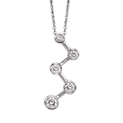 .50 ct. t.w. Diamond ZigZag Journey Pendant (I,I1)