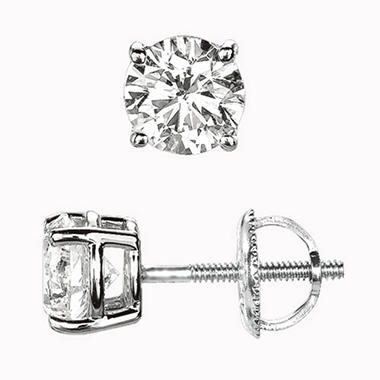 .50 ct. t.w. Round-Cut Diamond Earrings (I, SI2).