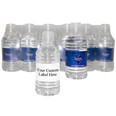 Custom Labeled Natural Spring Water Pallet - 12 oz. bottles - Choose 1, 5, 10, or 20 Pallets