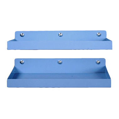"12""x6"" Steel Locking Pegboard Shelf - 2pk."