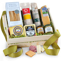 Artisan Deluxe Meat and Cheese Gift Crate