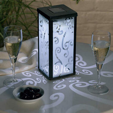 Solar Powered Scroll Glass Lantern