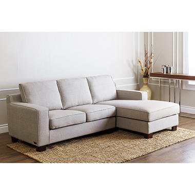 Broadway Grey Fabric Sectional