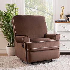 Houston Fabric Swivel Glider Recliner (Various Colors)