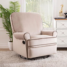 Houston Fabric Swivel Glider Recliner (Choose Color)