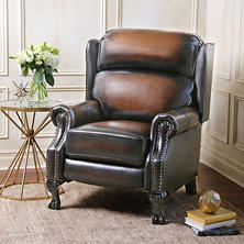 Mowen Leather Pushback Recliner