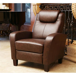 Aiden Top-Grain Leather Pushback Recliner