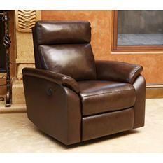 Dublin Leather Power Swivel Recliner