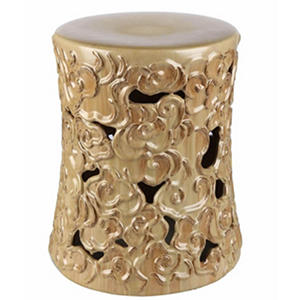 Camile Antique Ceramic Stool (Assorted Colors)