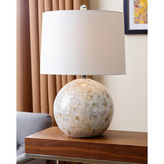 Alana Mother-of-Pearl Round Table Lamp