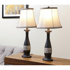 Beirut Brown Table Lamp, Set of 2