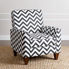 Peyton Black Chevron Armchair