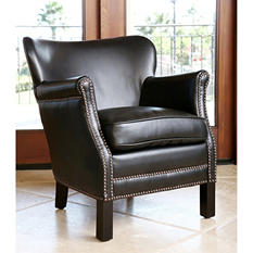 Parsons Leather Petite Armchair (Assorted Colors)