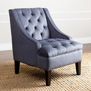 Waldorf Velvet Swoop Chair