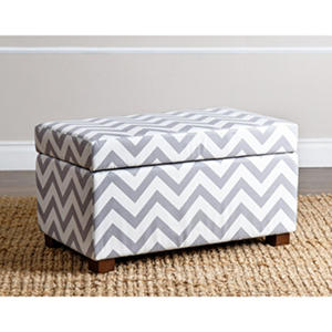 Ruby Chevron Stripe Small Storage Ottoman