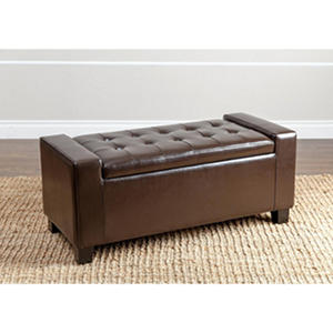 Montecito Leather Storage Ottoman (Assorted Colors)