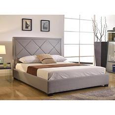Napa Grey Linen Platform Bed (Assorted Sizes)