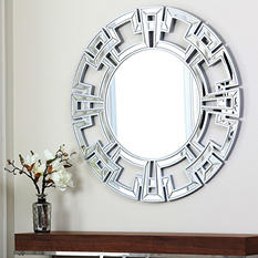 Ravena Silver Round Wall Mirror