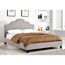 Madison Upholstered Platform Bed, Queen