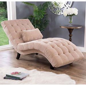 Becca Upholstered Chaise Lounge, Cream