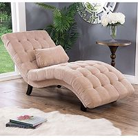 Abbyson Becca Upholstered Chaise Lounge