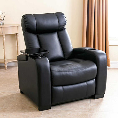 Larson Leather Reclining Home Theater Chair Sam S Club