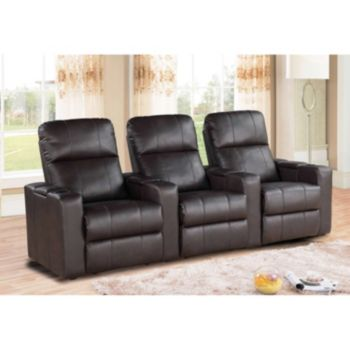 Parker CH-10293-BRN Leather Seating 3-Pc. Set