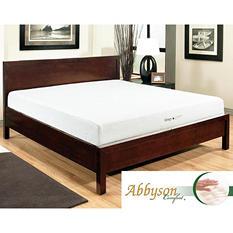 """Abbyson Living Comfort Sleep-Green 10"""" Memory Foam Mattress, Queen"""
