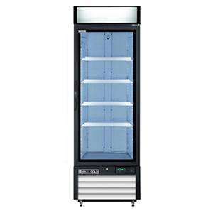 Maxx Cold X-Series Single Door Upright Merchandiser Freezer in White (23 cu. ft.)