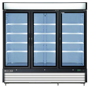 Maxx Cold X-Series Triple Door Merchandiser Refrigerator in Black (72 cu.ft.)