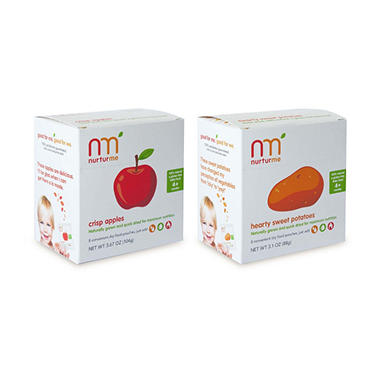NurturMe Baby Food, Apple/Hearty Sweet Potatoes - 16 pouches