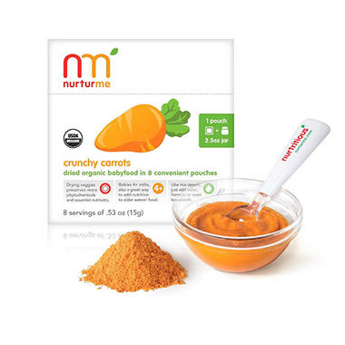 NurturMe Baby Food, Hearty Sweet Potatoes, 2 Boxes, 8 pouches each