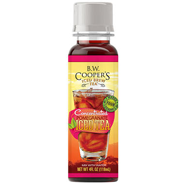B.W. Coopers Pomegranate Tea - Mini Bottle - 1 Bottle Makes 1 Gallon - 8 Count