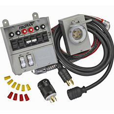 Generator Transfer Switch Kit (6 circuits) - 4 pc.