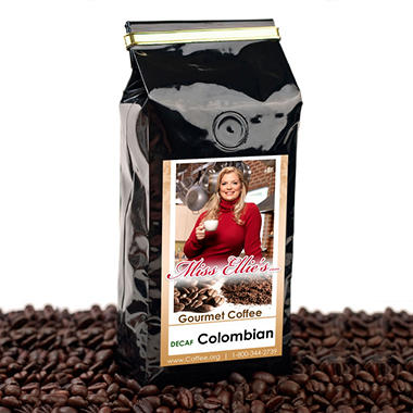 Miss Ellie's Whole Bean Coffee Decaffeinated Colombian Coffee - 2 lbs.