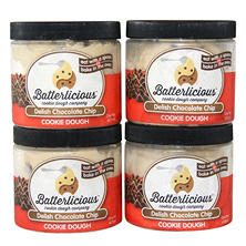 Batterlicious Edible Cookie Dough, Delish Chocolate Chip (1 pint jar, 4 ct.)