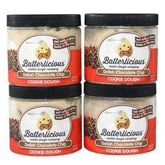Batterlicious Edible Cookie Dough, Delish Chocolate Chip (1 pint jar, 4 ct.)
