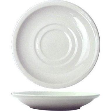 """6"""" Dover Saucer - Porcelain White - 36 pk."""
