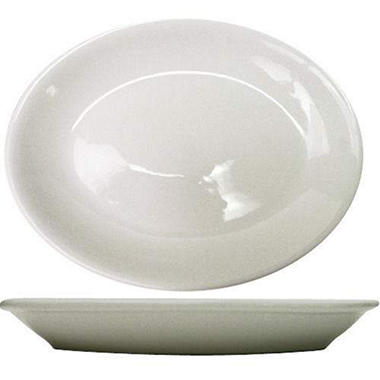 Dover Platter RE - Porcelain White - 11 3/4""