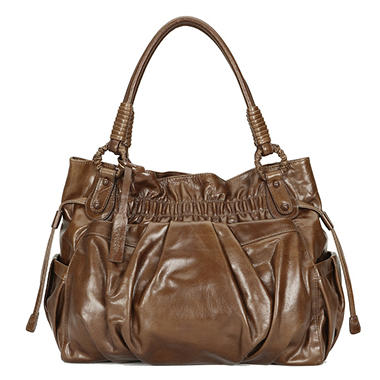 Orvieto by Estel Park Grande Signora Brown Leather Handbag