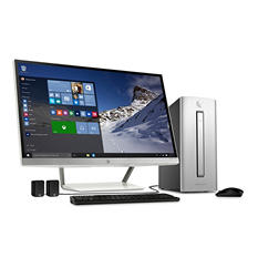 "HP Desktop Bundle with 27"" Monitor, Intel Core i7-6700, 12GB Memory, 2 TB Hard Drive"