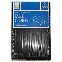 "Daily Chef Rectangular Tablecloth, Black or Burgundy (54"" x 120"", 2pk.)"
