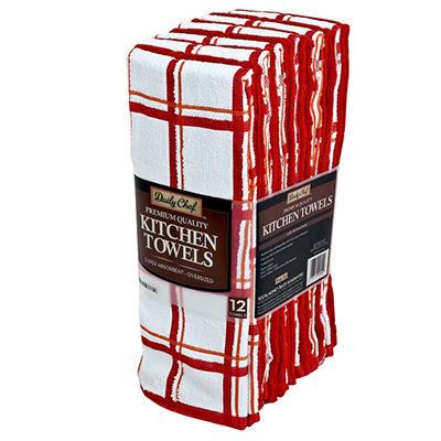 """Kitchen Towels, Various Colors (16"""" x 28"""" - 12 pk.)"""