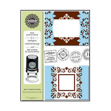 Designer Stationery & Custom Stamp Gift Set