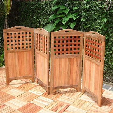 Premium Plantation Teak Privacy Screen
